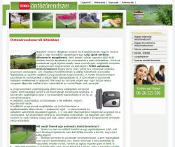 öntözőrendszer website